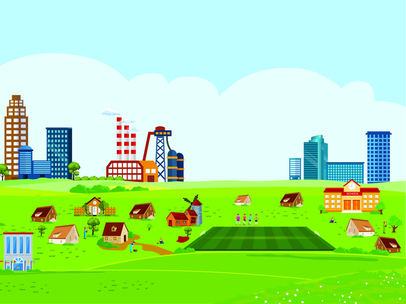 Village in Swedia flat vector town concept illustration village illustration vector village village landscape architecture header web skyscraper silhouette skyline business city cityscape city lanscape background apartment