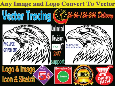 any artwork convert to perfect vector your desire time frame