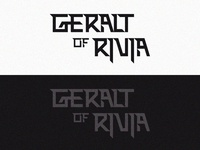 Geralt of Rivia type design