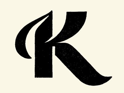 Letter K logolove textured sketches lettering lettering logo hand lettering type design type art hand drawn custom lettering 36daysoftype customtype branding illustration type typography lettermark logotype logodesign logomark