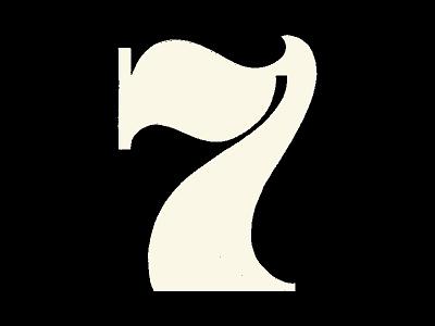 Number 7 dribbble custom lettering 36daysoftype glyphs type design hand lettering art hand drawn type hand lettering logo hand lettering hand drawn lettering illustration type typography logotype logo lettermark logomark branding logodesign