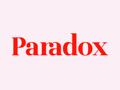 Paradox logotype logoawesome vector visual identity logolounge dribbble typedesign logologo logolove brand identity clothing brand minimalist logo logo type lettering logotype lettermark typography logomark branding logodesign