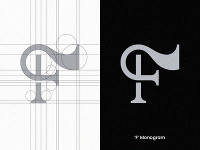 'F' Monogram vector visual design lettermark monogram logolab logolearn logolove typography logo logoconcept branding minimalist logo monogram logo monogram letter mark logocore logotype brand identity design logomark logodesign