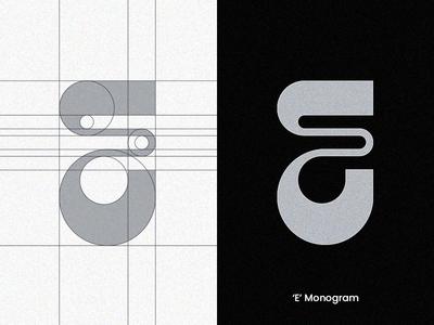'E' Monogram letter logolearn logolove minimalism modern logo visual design vector typography monogram lettering lettermark minimalist logo logotype monogram letter mark monogram logo logodesign logocore logoconcept branding logomark