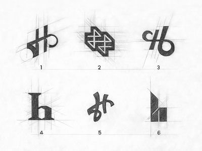 Lettermark Exploration 'H' dribbble freebie graphics font monochrome graphics lettering logo lettermark corporate branding minimal logos type typography monogram logo logo logotype monogram letter mark illustration logoconcept branding logomark