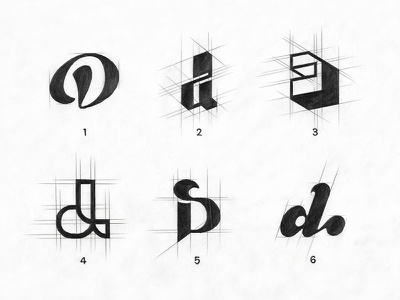 Lettermark Exploration D type design monogram logo customlettering customtype letterlogo lettering freebies symbol type sketches typography logocollection lettermark minimalist logo logotype monogram letter mark branding logomark logoconcept logodesign