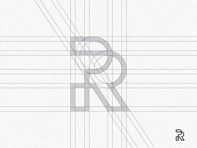 P+R monogram grid process