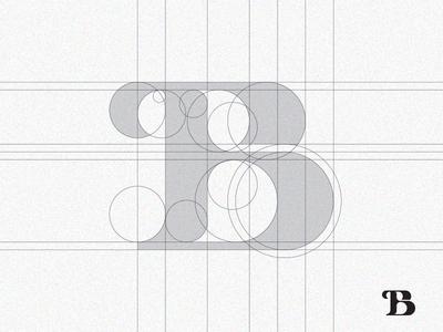 Letter B grid process