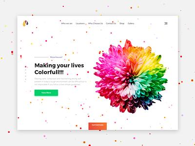 moorhousecoating.com colorfull design ux ui webui flat minimal