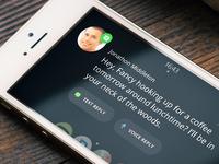 Vehicle App SMS