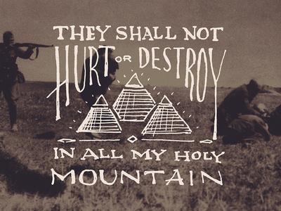 Stop the destruction - lettering