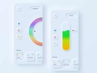 Smart Home | Light Mode | Neomorphic