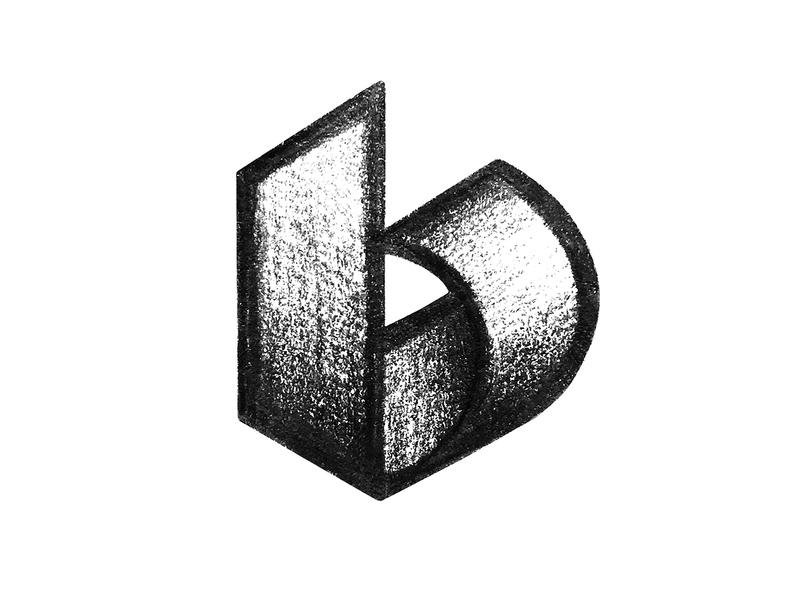 b typography type sketch letter b b monogram symbol mark logo