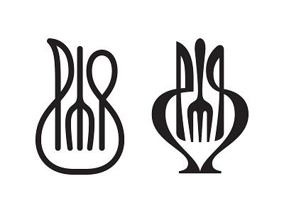wip fork knife spoon jug symbol mark logo