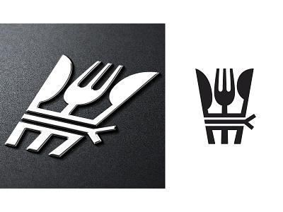 wip spoon knife fork symbol mark logo