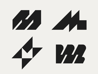 M lettermark letter m m logo logo mark symbol negative space logotype typography letter monogram symbol mark logo