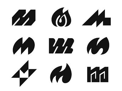 M m letter m logo m negative space logotype typography letter monogram symbol mark logo