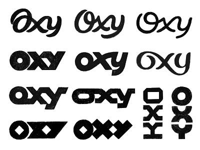 Oxy / Sketches sketches oxy logo mark symbol negative space logotype typography letter monogram symbol mark logo