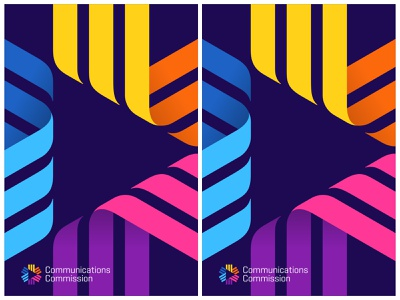 CC / Rejected version colorful logo colorful design poster design poster logo design abstract design abstract ribbon symbol mark logo