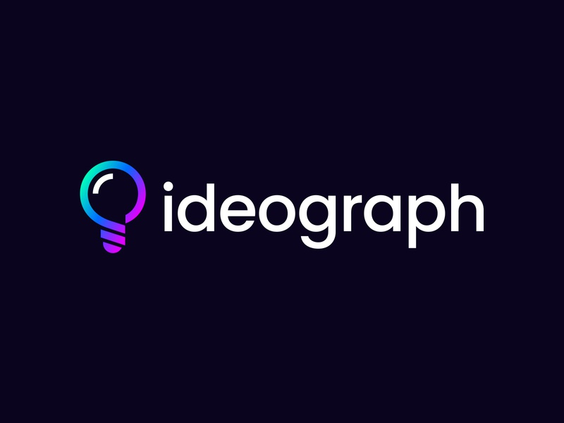 ideograph V1 idea bulb logo bulb symbol mark logo