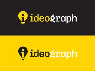ideograph  V2 bulb logo bulb negative space logo negativespace symbol mark logo