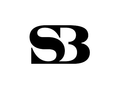 SB or maybe S3 s3 sb negative space typography letter monogram symbol mark logo