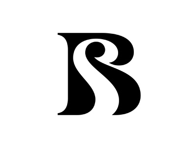 SB / BS sb bs elegant negative space logo logo mark symbol negative space logotype typography letter monogram symbol mark logo