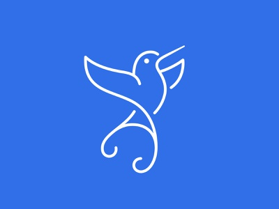 Hummingbird bird logo bird hummingbird logo humming bird hummingbird monogram symbol mark logo