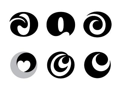 O / OC wip wave letterforms serif heart tongue oc monogram oc letter c c letter o o logo mark symbol negative space logotype typography letter monogram symbol mark logo