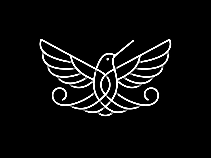Hummingbird for Minifund hummingbird logo hummingbird bird logo bird symbol mark logo