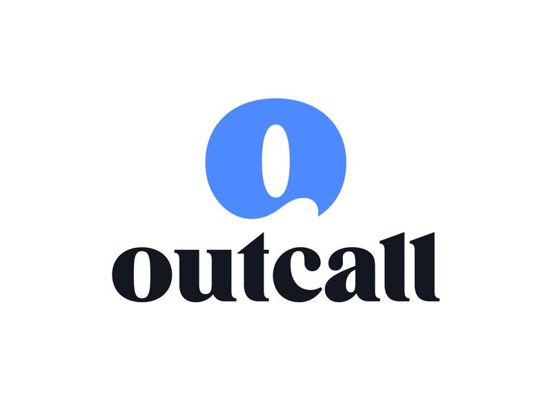 Outcall V2 serif o letter o logo mark symbol lettering negative space logotype typography letter monogram symbol mark logo