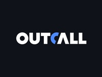 Outcall V3 phone icon phone wordmark logo wordmark logotype typography symbol mark logo