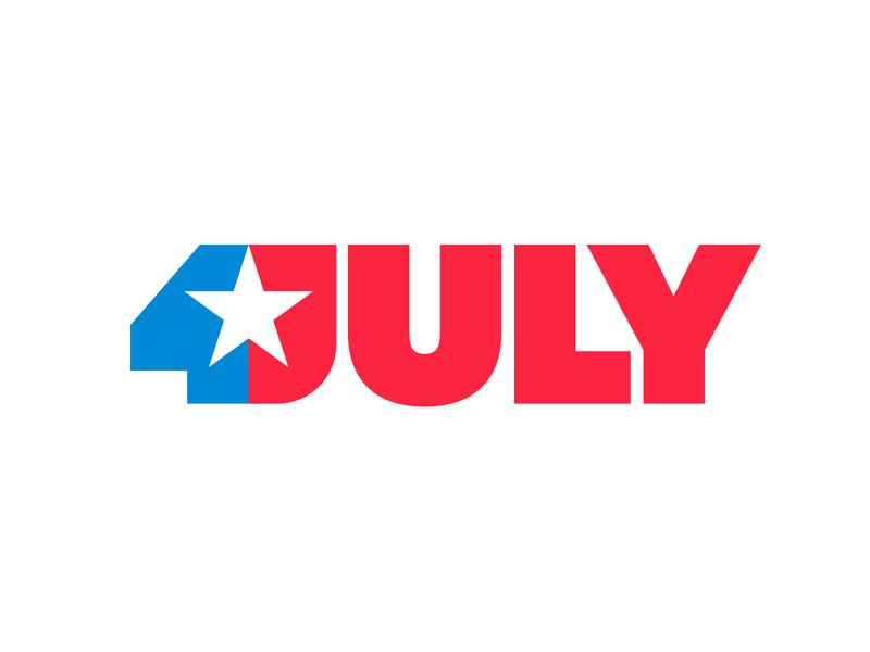 4 JULY star logo negative space logo negativespace 4 july independence day american flag america star logo mark symbol negative space logotype typography letter monogram symbol mark logo