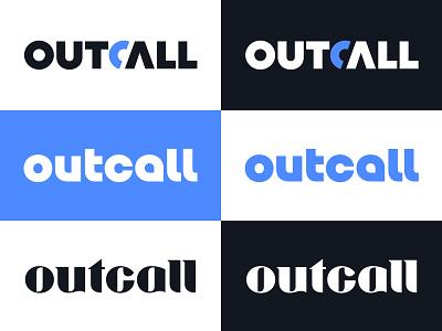 Outcall V3,4,5 costume typography phone icon logo mark symbol lettering logotype typography letter monogram symbol mark logo