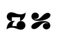z7 / z negative space logo negativespace z7 7 z negative space logotype typography letter monogram symbol mark logo