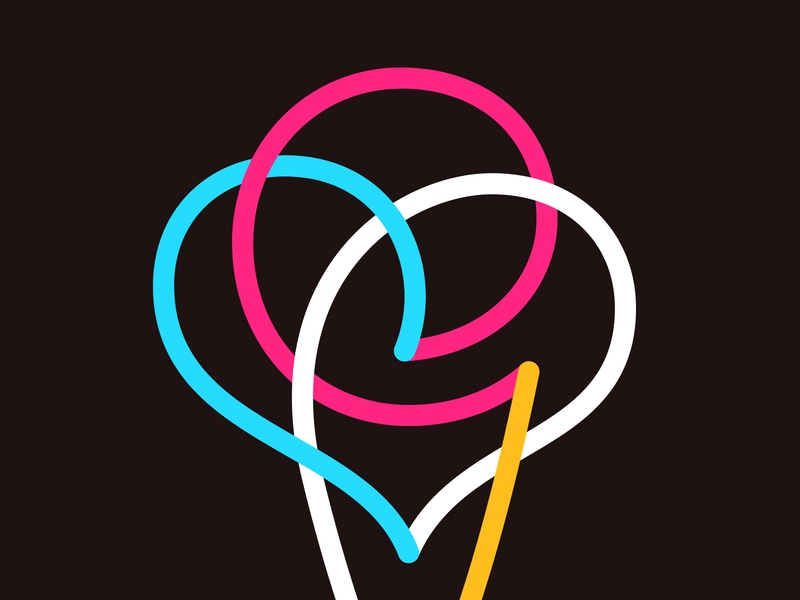 Ice Cream colorful logo line logo icons icon ice cream icon love heart logo heart ice cream logo icecream ice symbol mark logo