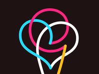 Ice Cream colorful logo line logo icons icon ice cream icon love heart logo heart ice cream logo icecream ice symbol mark logo