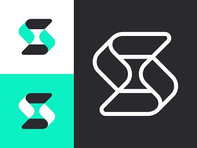 S logo s letter s s logo mark symbol negative space logotype typography letter monogram symbol mark logo