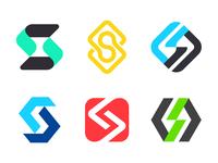 S versions for Sourcecode letter s logo s logo lab coding logo coding letters s negative space logo logo mark symbol negative space logotype typography letter monogram symbol mark logo