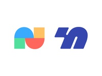 N letter n n logo n logo mark symbol negative space logotype typography letter monogram symbol mark logo