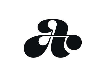 Letter A letter a a logo mark symbol negative space logotype typography letter monogram symbol mark logo