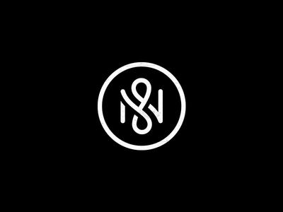 N ambigram n crossroad road molecule logo mark symbol nano