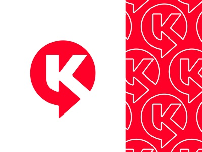 K / kaspersky / Circle K kaspersky logo kaspersky arrow logo arrow k monogram letter k k logo mark symbol negative space logotype typography letter monogram symbol mark logo