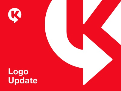 Circle K / Logo Update / Unofficial before after logo redesign rebranding logo update circlek logo circle logo k monogram k logo k logo mark symbol negative space logotype typography letter monogram symbol mark logo