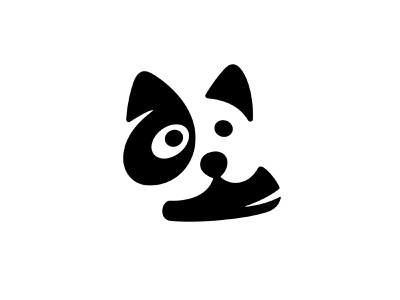 Dog with Sneaker / WIP logo versions dog logo cute logo sneaker negative space logo negativespace dog symbol mark logo