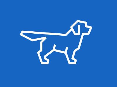 Retriever golden retriever dog logo retriever dog symbol mark logo