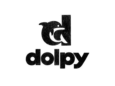 Dolpy / Sketch branding identity design logo sketches sketch dolpy dolphin logo dolphin d logo d logo mark symbol negative space logotype typography letter monogram symbol mark logo
