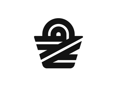 Z + Shopping Basket grocery shoping shopping app shop logotype typography letter monogram basket symbol mark logo