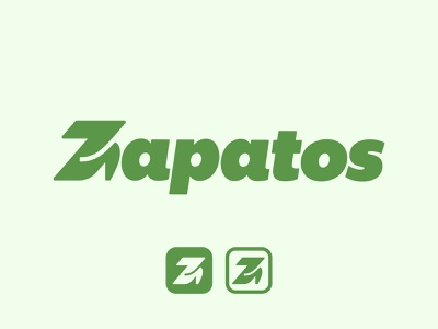 Zapatos (Z + Heels) wordmark store woman shoes heels z logo mark symbol negative space logotype typography letter monogram symbol mark logo