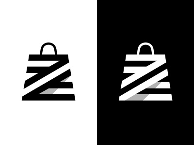 Z + Shopping Bag branding idenity woman shopping app shopping bag logo bag logo shopping bag shopping logotype typography letter monogram symbol mark logo